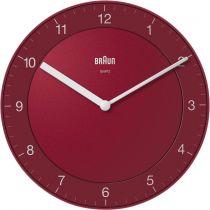achat Horloge - Braun BC 06 R Quartz wall clock analog red 67096