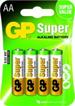 buy Batteries / Cells - Pilhas 1x4 GP Super Alkaline 1,5V AA Mignon LR06          03015AC4
