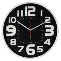 achat Horloge - Hama Horloge  Emotion 30cm geräuscharm Argent/preto 186382