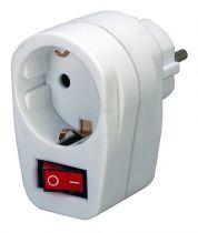 Comprar Adaptadores para Red - Brennenstuhl Steckdosenadaptador Zwischenstecker + Schalter Blanco 1508070