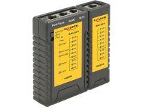Comprar Otros Accesorios - Cable tester DeLOCK Testador Cables Red RJ45/RJ12+Portfinder Negro | 3 86407