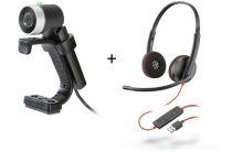 achat Webcam - Webcam Polycom EagleEye HD 1080p + Headset Plantronics BLACKWIRE C322 KIT4Q40408
