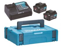 buy Power Tools Chargers - Makita Fonte de Alimentação Kit 12V 4Ah, Set black, 2x Bateria BL1041B