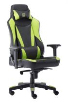achat Chaise pour Gaming - LC-POWER Cadeira Gaming LC-Power LC-GC-701BG black/green LC-GC-701BG
