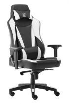 achat Chaise pour Gaming - LC-POWER Cadeira Gaming LC-Power LC-GC-701BW black/white LC-GC-701BW