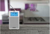 Radio KENWOOD CR-M10DAB DAB+ with Bluetooth/FM Blanco