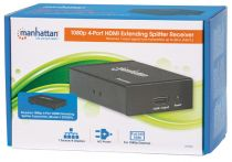 Manhattan 1080p 4-Port HDMI Extending Splitter Receiver 50m