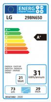 LG Ecran IPS 29´´ 21:9 ULTRAWIDE HDMI DP Enceintes AJUSTE 29BN650-B