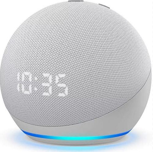 Amazon Echo Dot 4 (4rd) Blanco con reloj