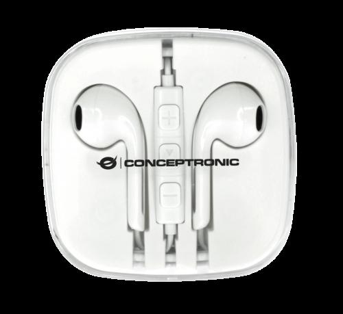 CONCEPTRONIC Earbuds Power2Go Blanco CTEARPLUG5 Pack 5