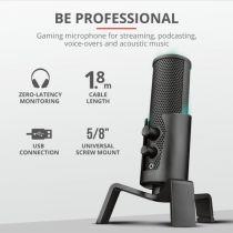 Micrófono TRUST GXT 258 Fyru USB 4-in-1 Streaming con Trípode - 23465