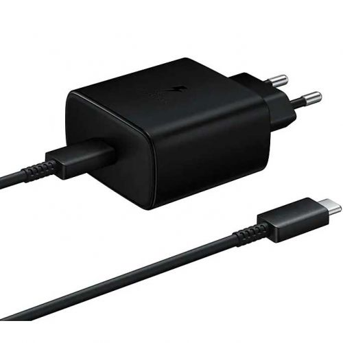 Cargador Rapido Samsung Fast Charge USB Type C , 45W + Cable 1m