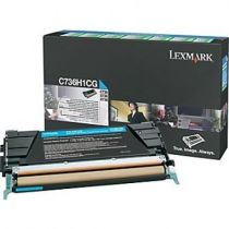 achat Toner imprimante Lexmark - LEXMARK TONER Bleu ELEV. C/RET C736/X736/738