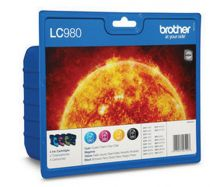 achat Encre imprimante Brother - BROTHER Encre Imprimante LC-980 PACK 4CORES(BK/C/M/Y) LC980VALBP