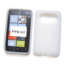 achat Housses et Étuis - Étui Protéction Pour HTC HD7 Blanc Translúcida