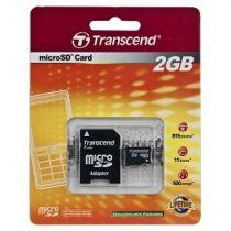 Comprar Tarjeta Micro SD / TransFlash - Transcend MicroSD 2GB + Adaptador Tarjeta Memoria TS2GUSD