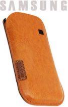 achat Etui Samsung - Étui en Cuir Samsung Galaxy Ace S5830 Marron