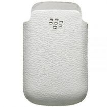 achat Etui Blackberry - Housse Cuir BlackBerry 9300/97XX/8520 Branc