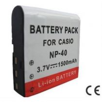 buy Battery for Casio - Battery CASIO NP-40, NP-40DBA, NP-40DCA (DSC: EX-FC100, Exil
