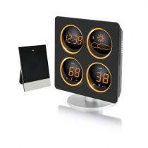 buy Thermometers / Barometer - Proficell WS6830 amber Weather Station