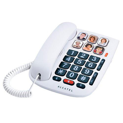 Teléfonos Fijos Analógicos - Telefono Alcatel TMAX 10 Teclas grandes 6 memorias directias M/libres