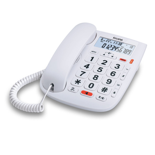 Teléfonos Fijos Analógicos - Telefono Alcatel TMAX 20 Teclas grandes 7 memorias directias M/libres