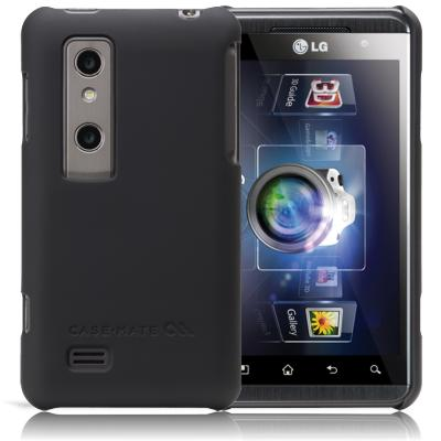Housses et Étui - case-mate CM014625 LG Optimus 3D Noir Barely There Case