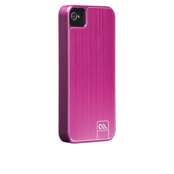 Protection Spéciale iPhone 4/4S - Case-Mate CM018054 Barely There iPhone 4s Rose Brushed Alumi CM018054