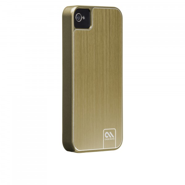 Protection Spéciale iPhone 4/4S - Case-Mate CM018401 Barely There iPhone 4/4s Gold Brushed Alu