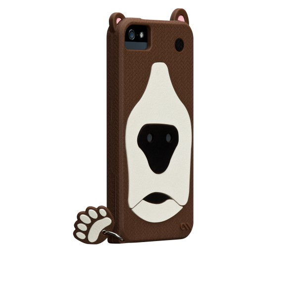 Protección Especial iPhone 5/5S - Case-mate Grizzly Creatures Funda iPhone 5 Marron
