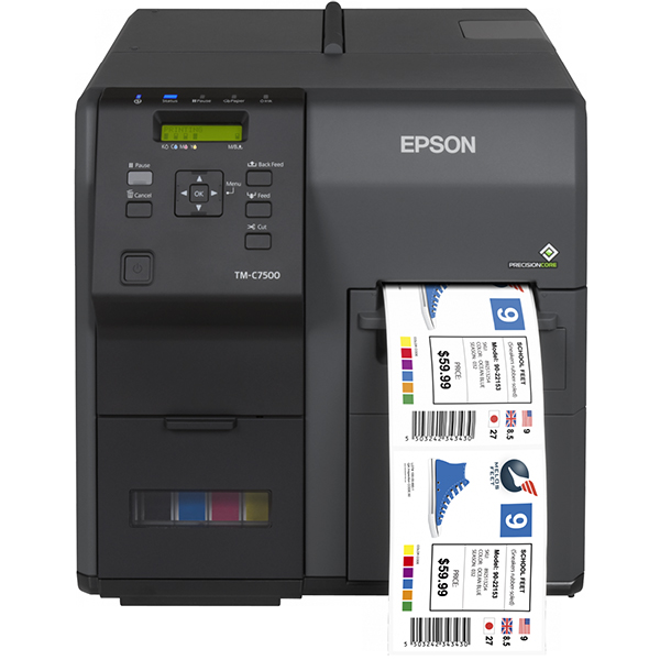 Label printers - EPSON TM- C7500 Printer COLORWORKS (Ink Cartrigde DURA BRITE)