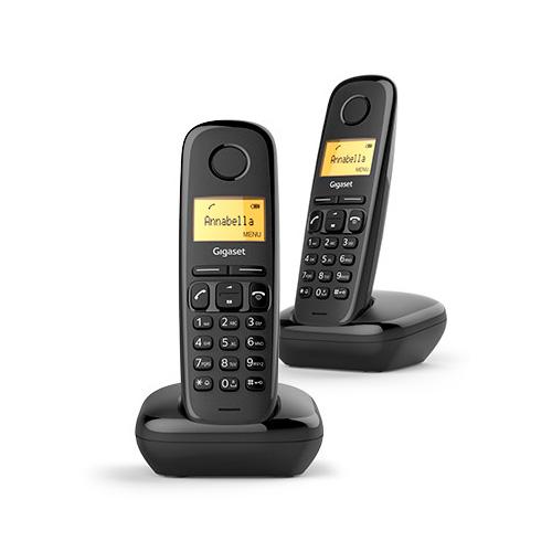 Teléfonos Inalámbricos DECT  - Telefono inalambrico dect Gigaset A170 Duo Negro