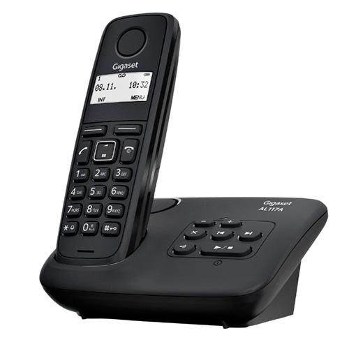 Teléfonos Inalámbricos DECT  - Telefono inalambrico dect Gigaset AL117 Negro ( Con contestador )